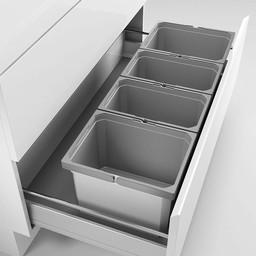 Naber Lade indeling - Cox - Box 235 K/1000-4. zonder biologisch deksel, lichtgrijs.