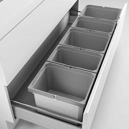 Naber Lade indeling - Cox - Box 235 K/1200-5. zonder biologisch deksel, lichtgrijs.