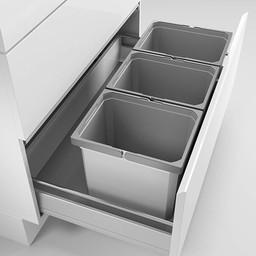 Naber Lade indeling - Cox - Box 275 K/900-3. zonder biologisch deksel, lichtgrijs.