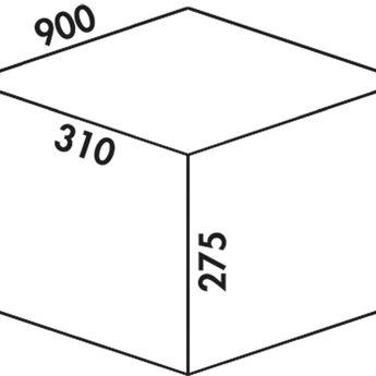 Naber Cox - Box 275 K/900-3. met biologisch deksel, lichtgrijs.