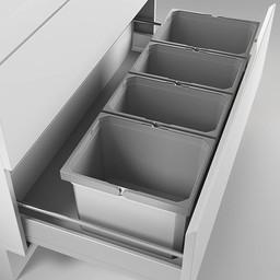 Naber Lade indeling - Cox - Box 275 K/1000-4. zonder biologisch deksel, lichtgrijs.
