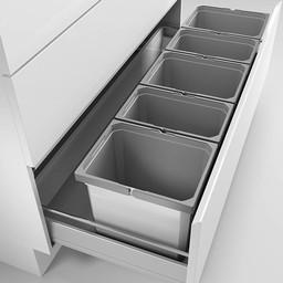 Naber Lade indeling Keuken Cox Box 275 K/1200 5 met biologisch deksel lichtgrijs