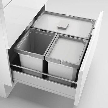 Ladeverdeler Cox® Box 220/600-3, Verzamelsysteem, licht grijs,