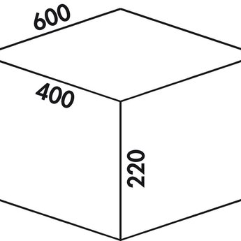 Naber Cox - Box 220/600-2, Verzamelsysteem, licht grijs,