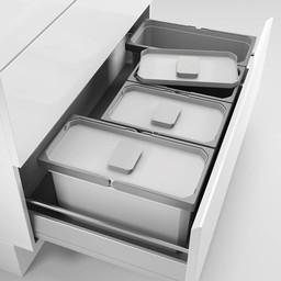 Naber Lade indeling - Cox - Box 220/900-4, Verzamelsysteem, licht grijs,