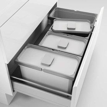 Naber Cox - Box 220/900-4, Verzamelsysteem, licht grijs,