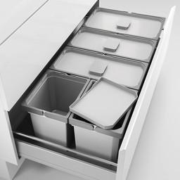 Naber Lade indeling - Cox - Box 220/1000-5, Verzamelsysteem, licht grijs,