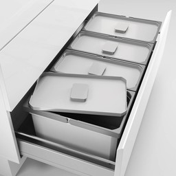 Naber Lade indeling - Cox - Box 220/1000-4, Verzamelsysteem, licht grijs,
