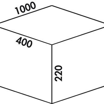 Naber Cox - Box 220/1000-4, Verzamelsysteem, licht grijs,