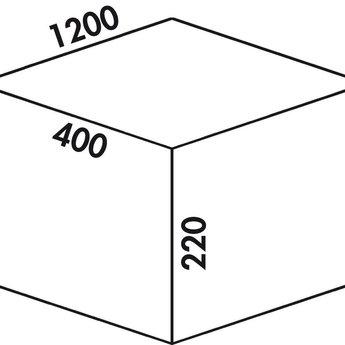 Ladeindeling Cox - Box 220/1200-6. Kastinrichting. licht grijs.