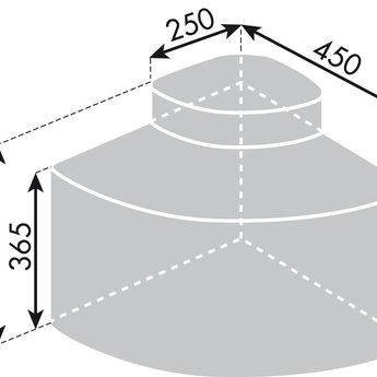 Afvalbak gescheiden inbouw Compleet met biologisch deksel en 4 adsorptiekoolfilters (ca. jaarbehoefte).