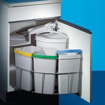 Afvalbak Gescheiden Inbouw Cabbi 4 Lichtgrijs