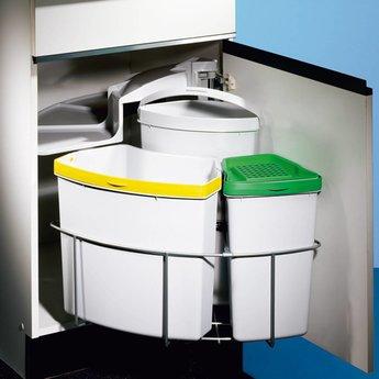 Afvalbak Gescheiden Inbouw Compleet Met Biologisch Deksel En 4 Adsorptiekoolfilters Ca Jaarbehoefte