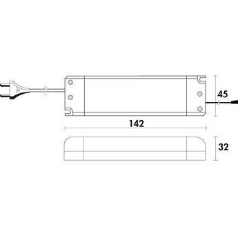 Naber Trave II Set-3 met LED Touch schakelaar en dimmer. Onderbouwlamp.