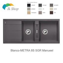 Keuken Spoelbak Silgranit Blanco METRA 8S SGR Manueel