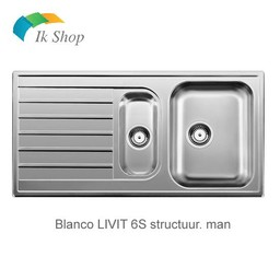 Blanco Spoelbak LIVIT 6S struct. man.