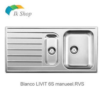 Blanco Spoelbak RVS LIVIT 6S manuele opening