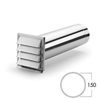 Muurdoorvoer afzuigkap - E-Klima-E 150, roestvrij staal