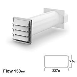Muurdoorvoer Klima-E flow 150 Compair Flow 150 wit roestvrij staal