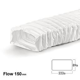 Naber Luchtafvoer F NFRS Flexibele slang flow 150, wit