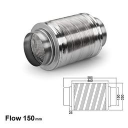 Naber Luchtafvoer Geluiddemper 150, aluminium