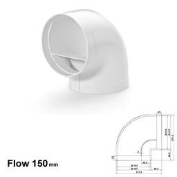 Naber Luchtafvoer R-RBV Flow 150 Buisbocht 90°