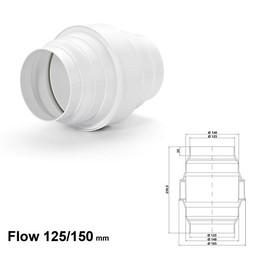 Naber Luchtafvoer KDA flow Ø125/150 Afscheider condenswater wit