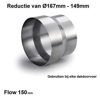 Naber Reductie Ø150 - Ø160mm Aluminium