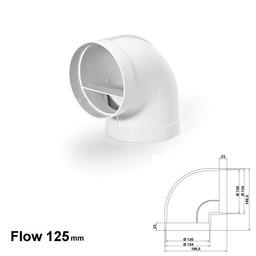 Naber Luchtafvoer R-RBV Flow Ø125 Buisbocht 90°
