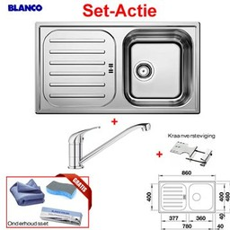 Blanco Spoelbak FLEX Pro 45 S & Mengkraan VITIS Set