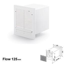 Naber Luchtafvoer Compair Flow V-Klima AZ 125 muurdoorvoer