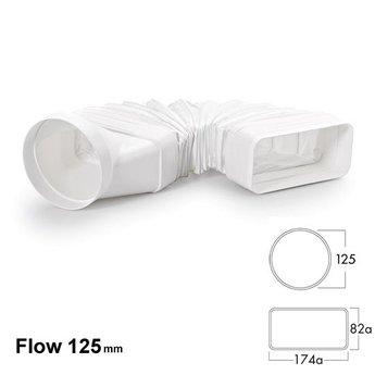 Naber Luchtafvoer Compair flow MF-RBFLEX 125 Buisbocht, wit