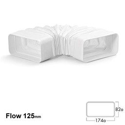 Naber Luchtafvoer Compair flow Flexibel 125 Buisbocht
