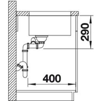 Spoelbak keuken - ANDANO 500/180U - Manuele of Automatische bediening - Grote bak rechts