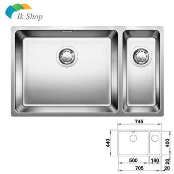 Spoelbak keuken - ANDANO 500/180U - Manuele of Automatische bediening - Grote bak Links