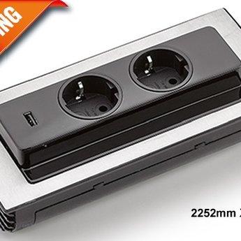 Evoline BackFlip 2 Stopcontacten en USB lader