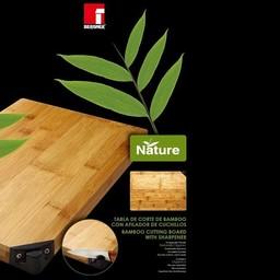Bamboe snijplank met messenslijper