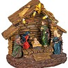Kerstkribbe met verlichting