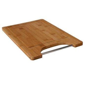 Bamboe snijplank met metalen handgreep