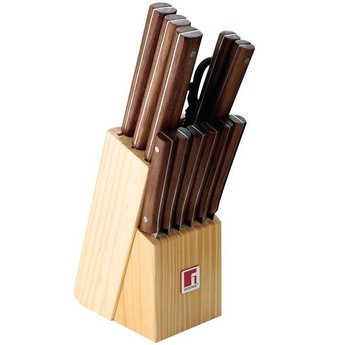 Messenset in houten blok 13 delig, Bergner