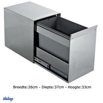 Super Inbouw Prullenbak | Afvalbak keuken - IkShop JS46