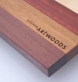 Luxury Breadboard, made of maple, purpleheart, padouc and afzelia.