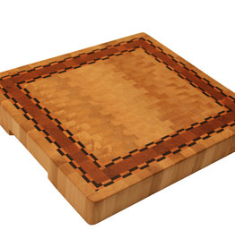 Endgrain cutting made of hornbeam, cherry and chequered maple and wenge