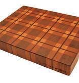 end grain cuttingboard with tartan design