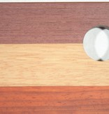 Luxe kaasplank van esdoorn, afzelia, padoek en purperhart
