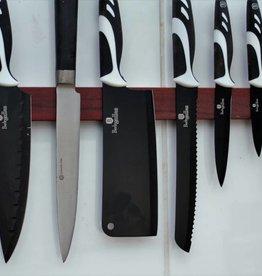 Wooden magnetic knife rack