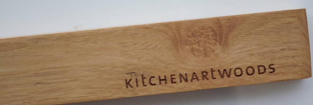 Magnetische messenhouder van luxe houtsoorten, gemakkelijk te installeren, beschermt het mes