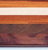 Luxe broodplank van de exclusieve houtsoorten esdoorn, tijgerhout, ipé en curupay