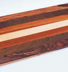 Breadboard made of warm colored Brazilian hardwoods