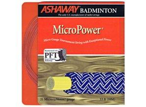 Ashaway Micro Power Oranje/wit - 10 m